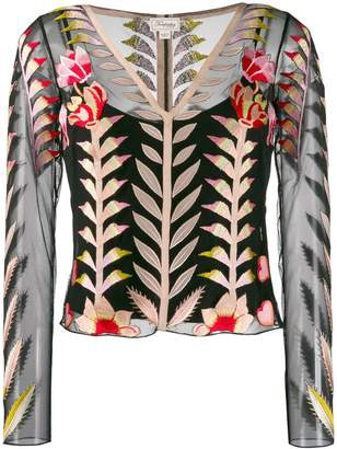 Temperley London sheer embroidered top