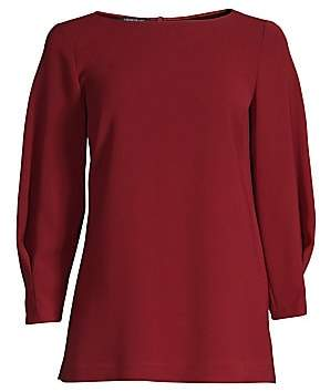 Lafayette 148 New York Women's Caddie Boatneck Blouse