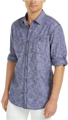 INC International Concepts Inc Men Chambray Dual-Pocket Shirt