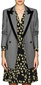 BLAZÉ MILANO Women's Everyday Velvet-Trimmed Birdseye Wool Blazer - Gray