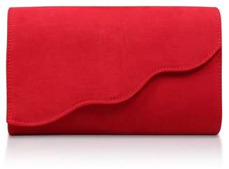 Miss KG - Red 'Holly' Suedette Clutch Bag