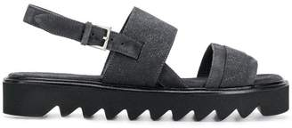 Peserico double strap sandals
