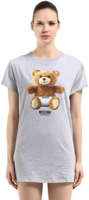 Moschino Teddy Bear Cotton Jersey Maxi T-Shirt