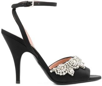 Moschino bejeweled high-heel sandals