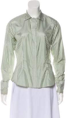 Aquascutum London Silk Striped Top