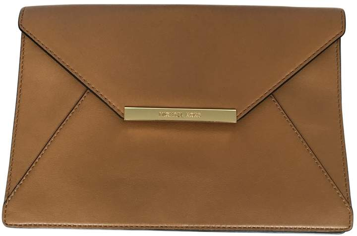 Michael Kors Leather clutch bag - CAMEL - STYLE