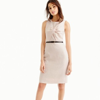 Drape knot dress in Irish linen $158 thestylecure.com