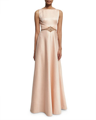 Theia Sleeveless Shimmery Ball Gown $1,195 thestylecure.com