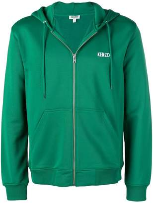 Kenzo dragon patch full-zip hoodie