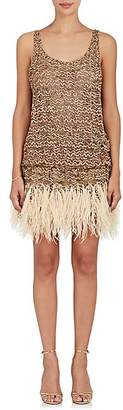 Marc Jacobs WOMEN'S EMBELLISHED TULLE COCKTAIL MINIDRESS - GOLD SIZE 2