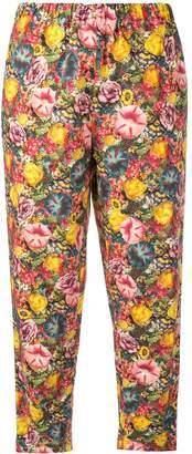 Marni floral drawstring trousers