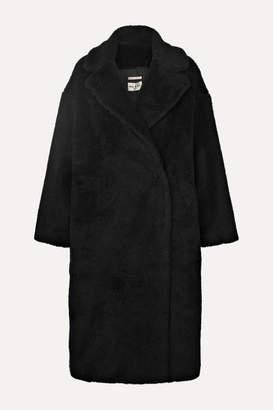 Paul & Joe Faux Shearling Coat - Black