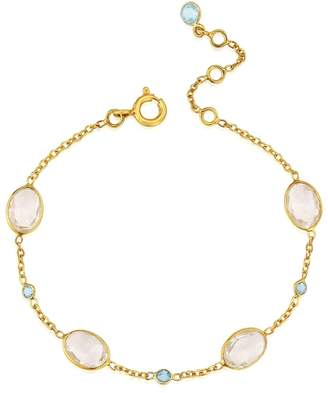 Auree Jewellery - Cannes Crystal & 18Ct Gold Vermeil Bracelet