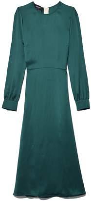 Rochas A-Line Dress in Dark Green
