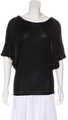 Ralph Lauren Silk Embellished Top