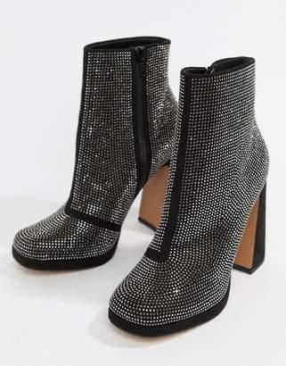 Asos DESIGN Emira embellished platform boots