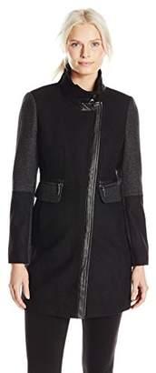Kensie Women's Color-Block Wool-Blend Coat $22.56 thestylecure.com
