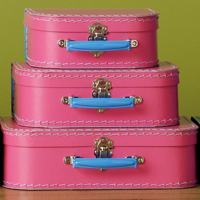 Pink w/Blue Suitcases (Set of 3)