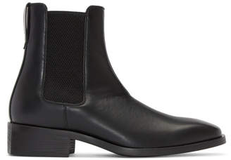 Stella McCartney Black Polished Chelsea Boots