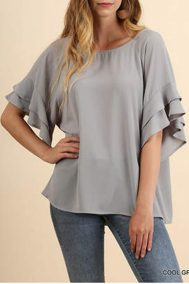 Umgee Cool Grey Top