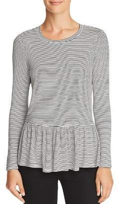 Aqua Striped Peplum Tee - 100% Exclusive