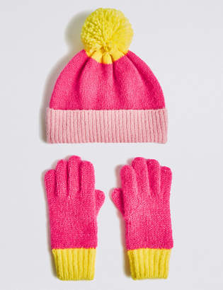 Marks and Spencer Kids Hat & Gloves Set