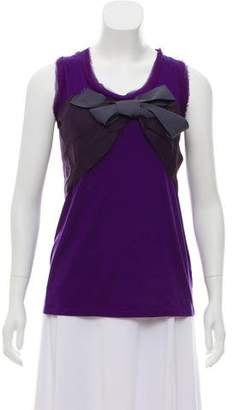 Lanvin Sleeveless Bow-Accented Top