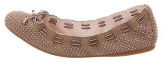 AERIN Embellished Suede Ballet Flats w/ Tags