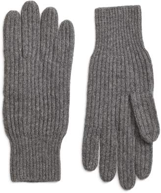 Brooks Brothers Ribbed Cashmere Gloves