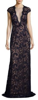 Crystal-Embellished Lace Gown $1,168 thestylecure.com