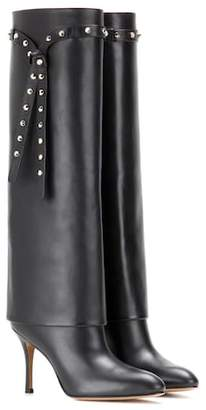 Valentino Embellished leather knee-high boots