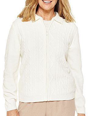 Alfred Dunner Chenille Cardigan - Plus
