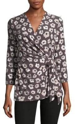Jones New York Floral Wrap Top