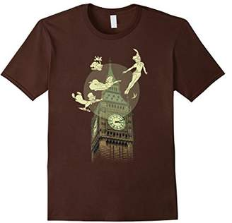 Disney Peter Pan The Darlings Flying By Clock Tower T-Shirt