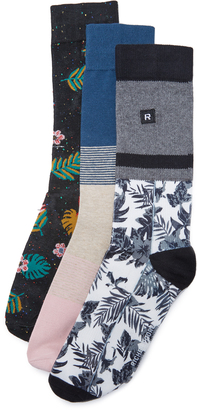 Richer Poorer 3 Pack Socks $36 thestylecure.com