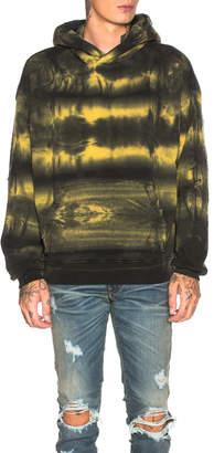 Amiri Tie Dye Shotgun Hoodie in Yellow | FWRD