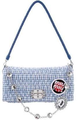 Miu Miu Vichy Crystal Matelasse Bag