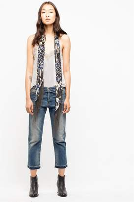 Zadig & Voltaire Zadig Voltaire Silky Chain Plume Scarf