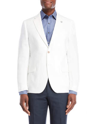 Nautica White Briella Linen Suit Jacket