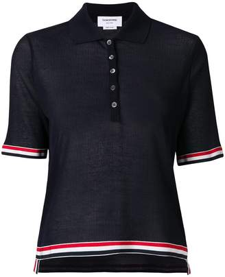 Thom Browne knitted polo-style top