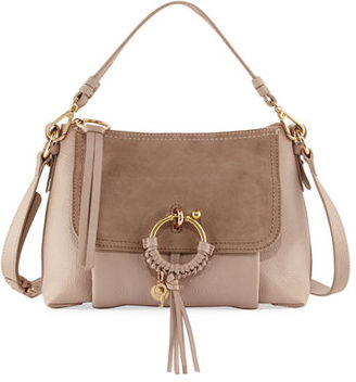 See by Chloe Ring Medium Suede & Leather Shoulder Bag $460 thestylecure.com