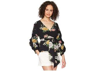 Bishop + Young Enchanted Garden Wrap Blouse
