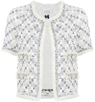 Edward Achour Paris embroidered short-sleeve jacket
