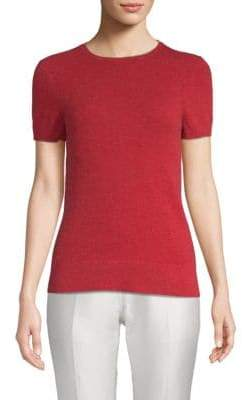 Saks Fifth Avenue Drop Shoulder Cashmere Tee