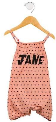 "Bobo Choses Girls' Embellished ""Jane"" Romper w/ Tags"