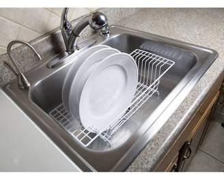 Home Basics Vinyl-Coated Steel Over-the-Sink Rack, White