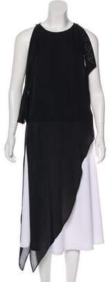 Halston Embellished Sleeveless Tunic Top