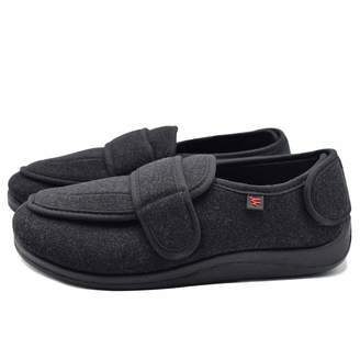 0952c7abbb24 DS-Slippers Men s Extra Wide Diabetic Slippers Orthopaedic Adjustable  Memory Foam Arthritis Edema Shoes for