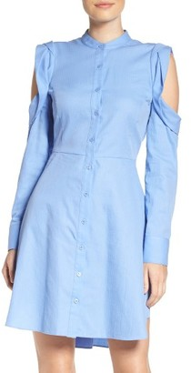 Women's Bcbgmaxazria Cold Shoulder Shirtdress $198 thestylecure.com