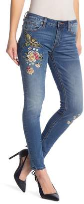 Miss Me Embroidered Design Skinny Jeans